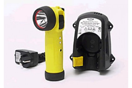 RIGHT-ANGLE RECHARGEABLE SAFETY TORCH ZONE 1 LED
